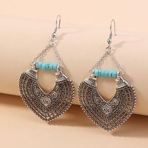 Jewelry - Turquoise Boho Chic Earrings